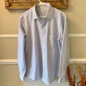 Brooks Brothers Dress Shirt in Blue Windowpane